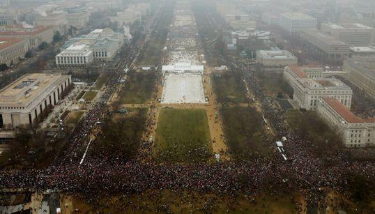 Las impresionantes imágenes aéreas de la Marcha de las