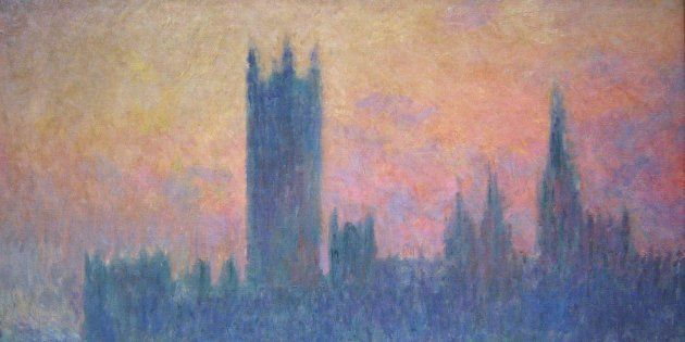 The Houses of Parliament, Sunset, 1903. Claude