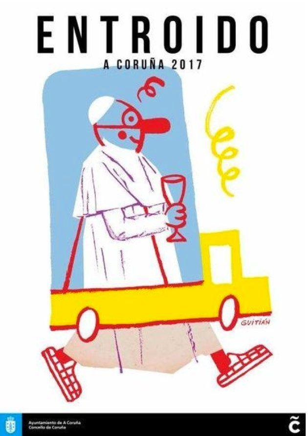 Este dibujo del papa le ha costado la imputación a un concejal de A