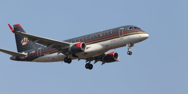 Un avión de Royal Jordanian, aproximándose al aeropuerto de Borispol (Ucrania), en una imagen de