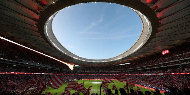 El estadio Wanda Metropolitano, durante el partido de estreno entre el Atlético y el Málaga, el mes