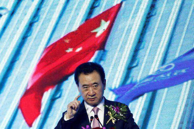 Wang Jianlin, durante un acto de su empresa, Wanda, el pasado mes de abril en