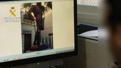 Detenidas 5 personas por pintar de rosa la estatua del torero Enrique