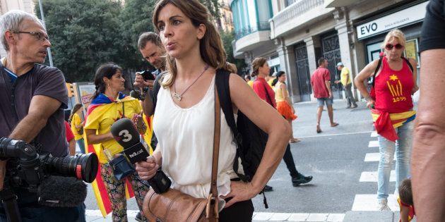Dos periodistas de TV3 cubren las movilizaciones de la Diada 2014 en Gran