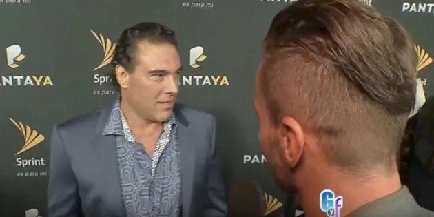 Un actor mexicano agrede en directo a un reportero por preguntarle sobre su