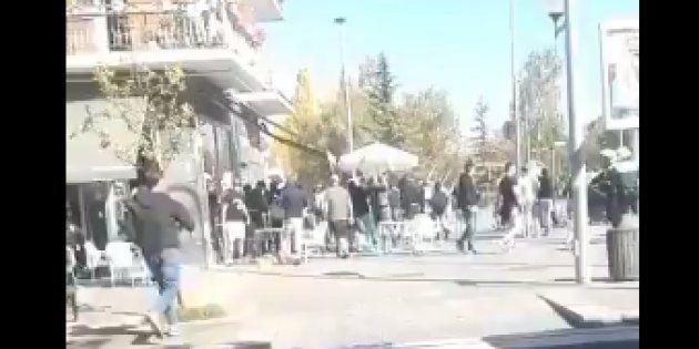 Cuatro heridos en una pelea entre ultras del Alavés y del Racing en