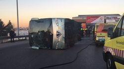 El conductor del autobús escolar accidentado en Fuenlabrada da positivo por
