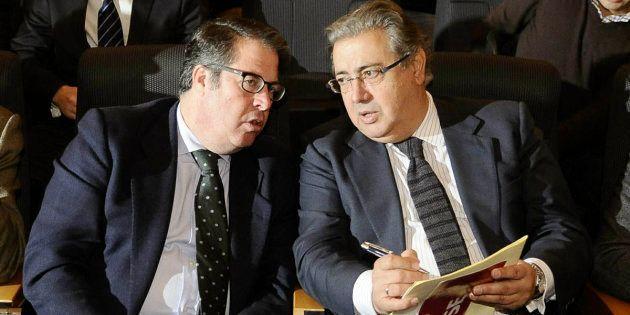 Gregorio Serrano y Juan Ignacio Zoido, en una imagen de su etapa en el Ayuntamiento de
