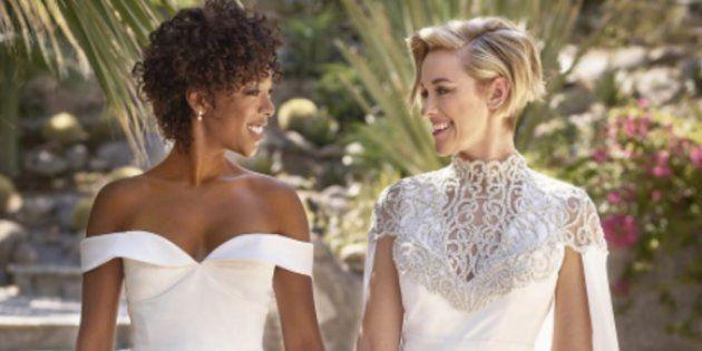 La actriz de 'Orange Is The New Black' Samira Wiley y la guionista de la serie Lauren Morelli se han