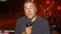 El directo de Xabier Fortes desde el incendio de Galicia que pone los pelos de punta: