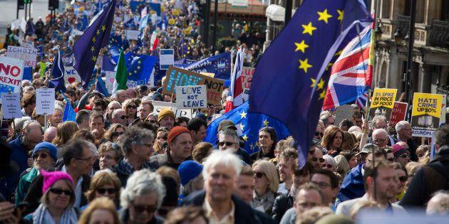 Imagen de la Marcha a favor de la UE del pasado 25 de marzo en