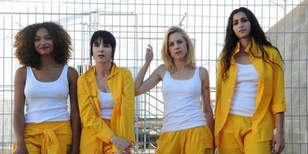 Las actrices Berta Vázquez, Najwa Nimri, Maggie Civantos y Alba