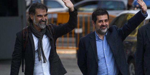 La juez decreta prisión sin fianza para Jordi Sánchez y Jordi Cuixart, líderes de ANC y Ómnium