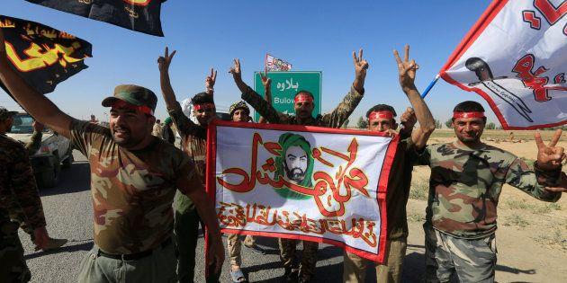 Fuerzas iraquíes celebran los avances en