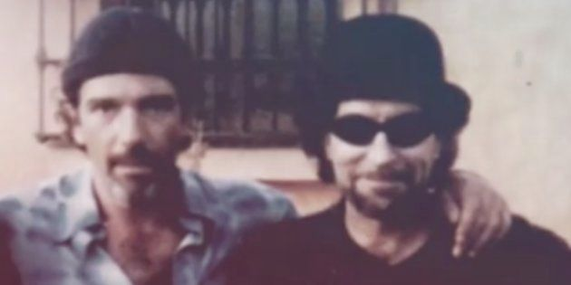 Antonio Banderas y Joaquín Sabina en una foto mostrada en el programa 'El árbol de tu