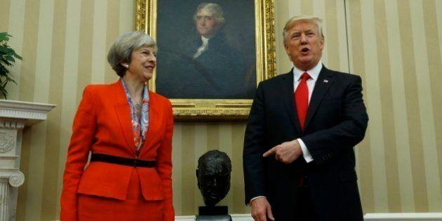 Donald Trump y Theresa May comparecen tras su reunión en