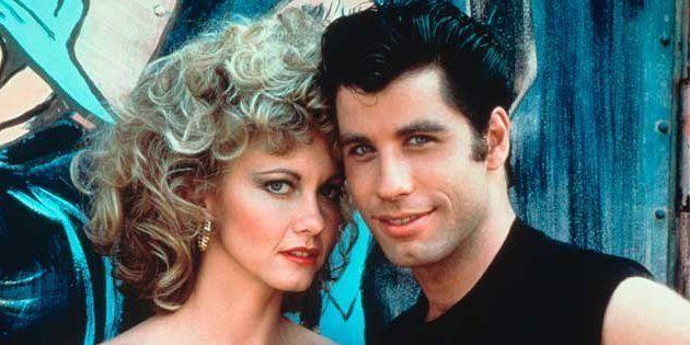Olivia Newton-John y John Travolta como Sandy y Danny Zuko en