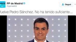 El PP de Madrid se mofa de Pedro Sánchez en