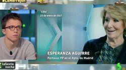 Íñigo Errejón responde a este deseo de Esperanza Aguirre en 'La Sexta