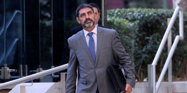 El mayor de los Mossos d'Esquadra, Josep Lluis Trapero, saliendo de la Audiencia Nacional,