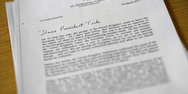 La carta enviada por Theresa