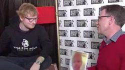 La curiosa reacción de Ed Sheeran cuando le enseñan la foto de una niña igual que