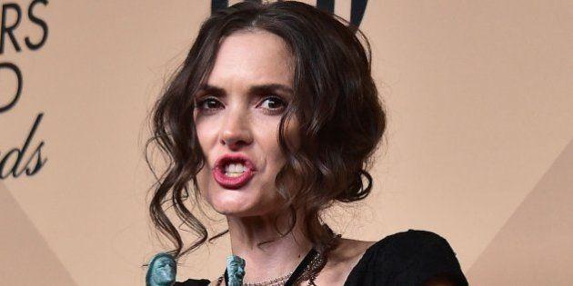 ¿Qué le pasaba en la cara a Winona Ryder en los Premios