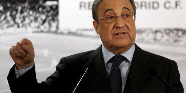 Florentino Perez, presidente de ACS y Real