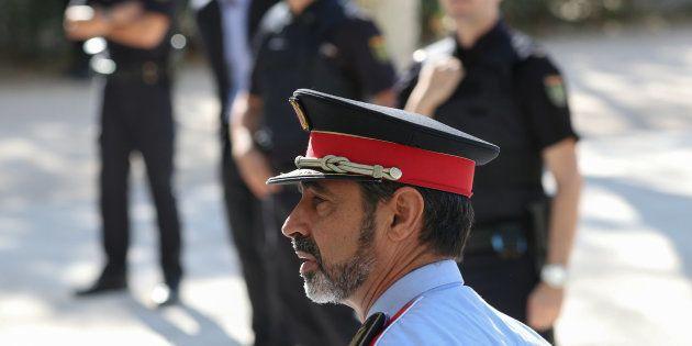 Josep Lluis Trapero, el mayor de los Mossos, el pasado 6 de octubre, camino de la Audiencia Nacional,...