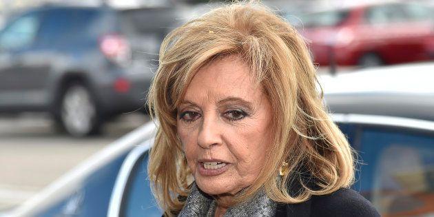 La periodista María Teresa Campos durante el entierro de Paloma Gómez Borrero el 25 de marzo de 2017...