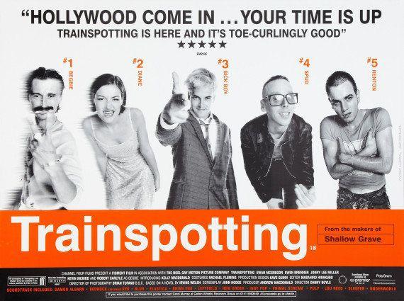 El mítico cartel de 'Trainspotting', 20 años