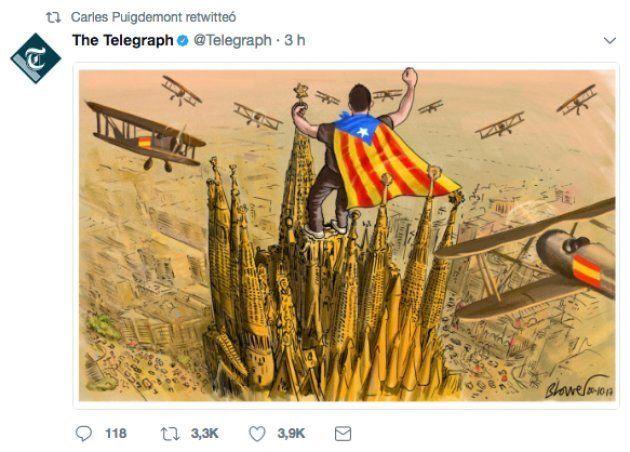 La viñeta viral de 'The Telegraph' sobre Cataluña que le ha encantado a