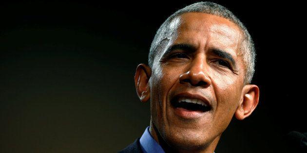 El expresidente de Barack Obama durante uno de los mítines del pasado
