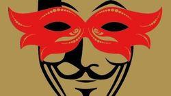 La máscara de Anonymous se pone el