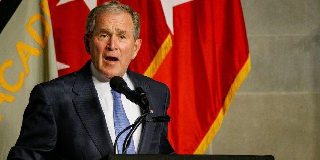 El expresidente de EEUU, George W. Bush, durante su discurso del pasado