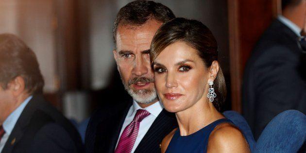 Los reyes durante el concierto de los Premios Princesa de Asturias,en el Auditorio Príncipe Felipe de...