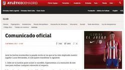 El Atlético pide respeto a la presunción de inocencia de Lucas