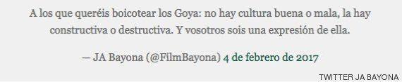 El recado de JA Bayona a los que llaman a boicotear los