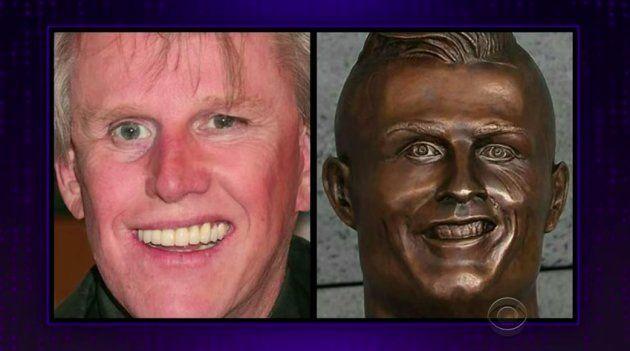 James Corden se burla del busto de Cristiano Ronaldo y le saca un parecido