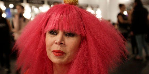 Agatha Ruiz de la Prada en Mercedes-Benz Fashion Week Madrid en febrero de