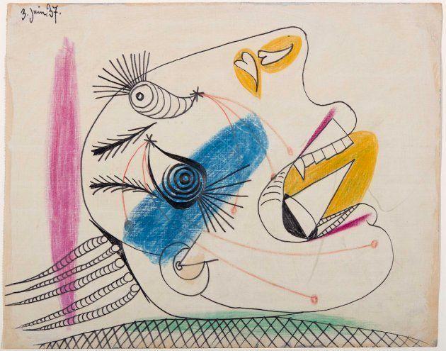 'Estudio para una cabeza llorando (I) Dibujo preparatorio para 'Guernica',