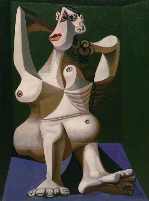 'Mujer peinándose',