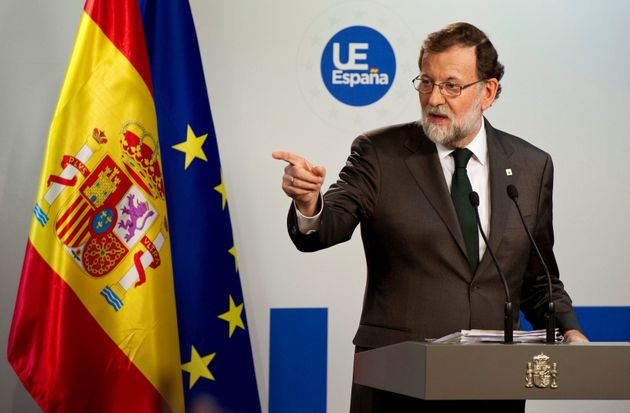 GRAF2842. BRUSELAS, 20/10/2017.- El presidente del Gobierno, Mariano Rajoy, durante la rueda de prensa...