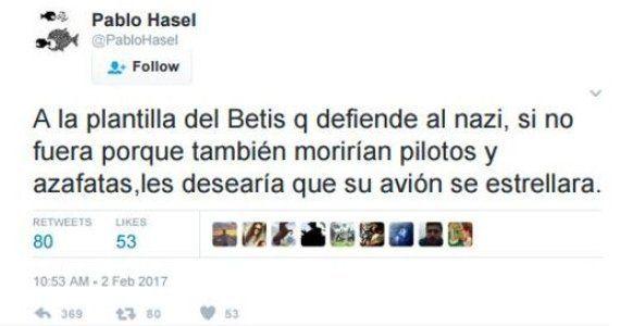 El Betis se querellará contra el rapero Pablo