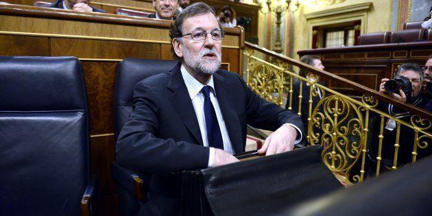 El presidente del Gobierno, Mariano Rajoy, en el pasado pleno del Congreso del 22 de