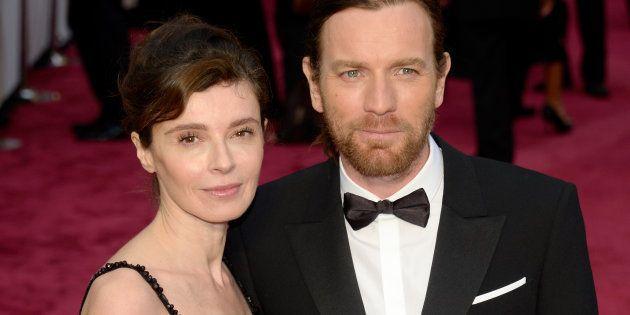 Ewan McGregor junto a su exmujer Eve Mavrakis en la gala de los Oscar de