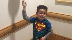 Todo un superhéroe: la viral alegría del pequeño Jimmy tras superar un