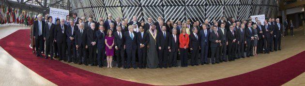 Foto de familia de la conferencia 'Apoyando el futuro de Siria y la región', que ha tenido lugar en Bruselas