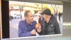 Paco Sanz se encara con un reportero en plena calle: