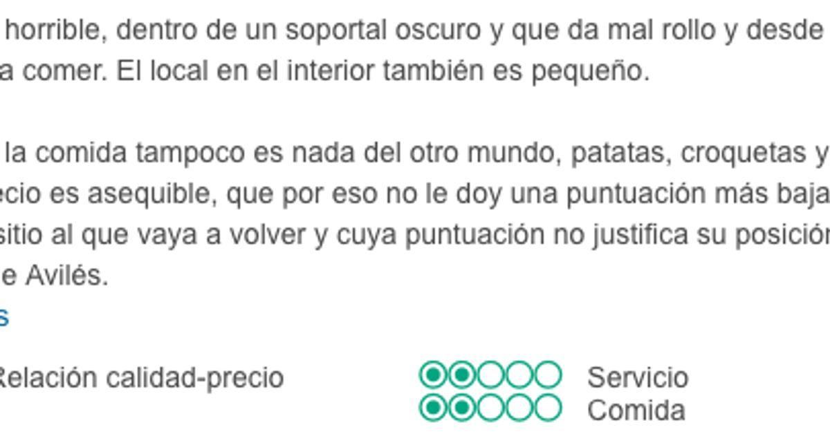 Un restaurante asturiano triunfa con su respuesta a un cliente en TripAdvisor